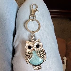 Owl key chain with gems